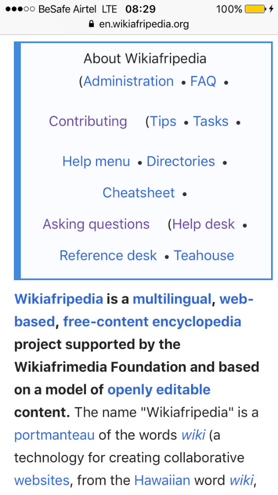 Wikiafripedia