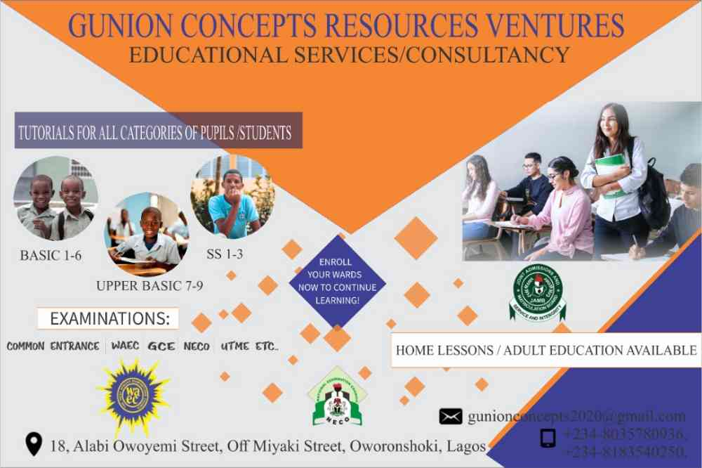Gunion Concepts Resources Ventures, Educational services and Consultancy. picture