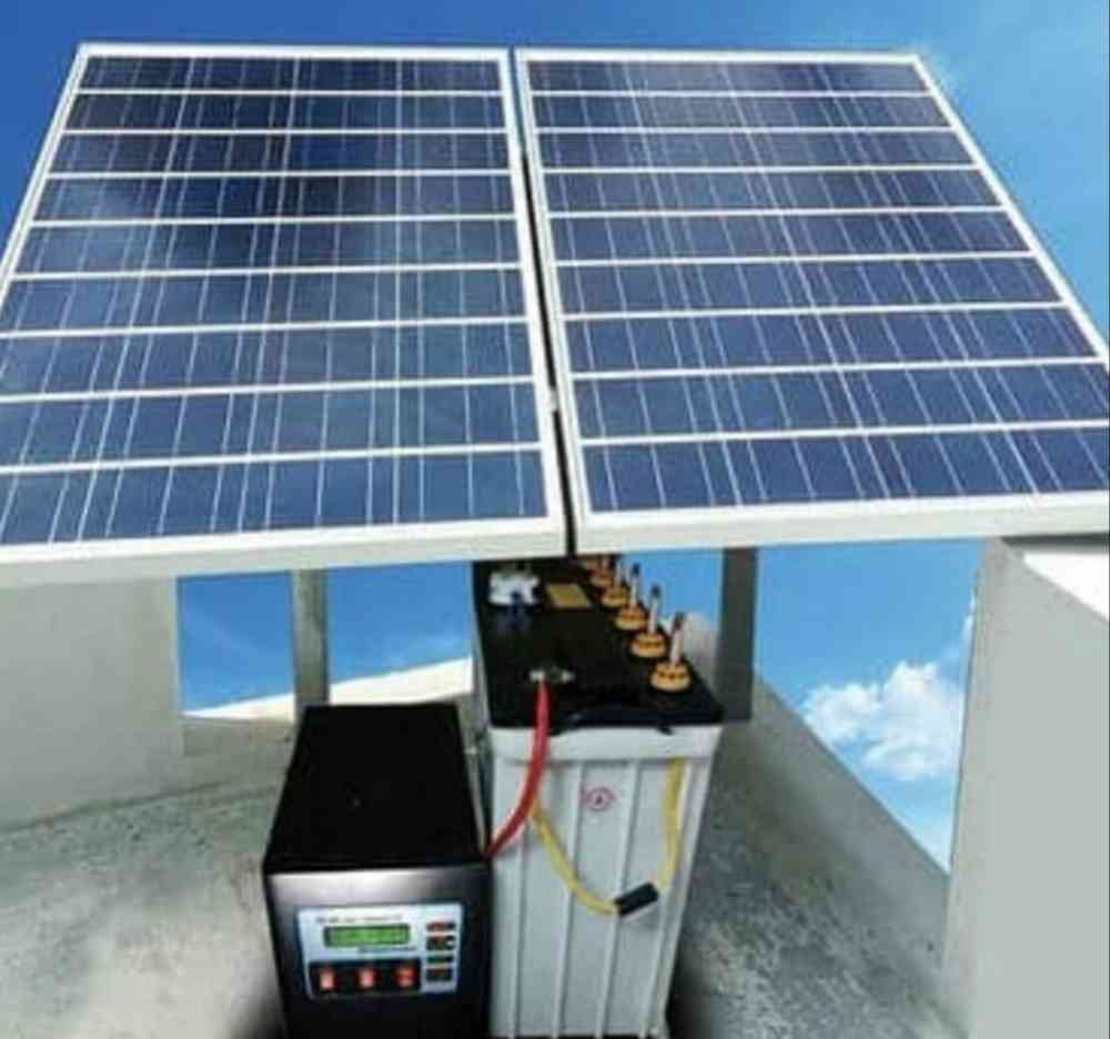 0.9kva with inverter as solar panels & battery picture