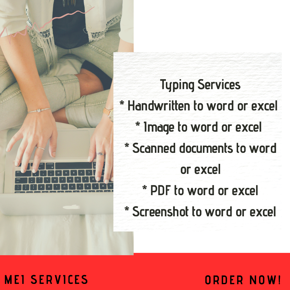 MEI Services will do a professional typing and retyping job picture