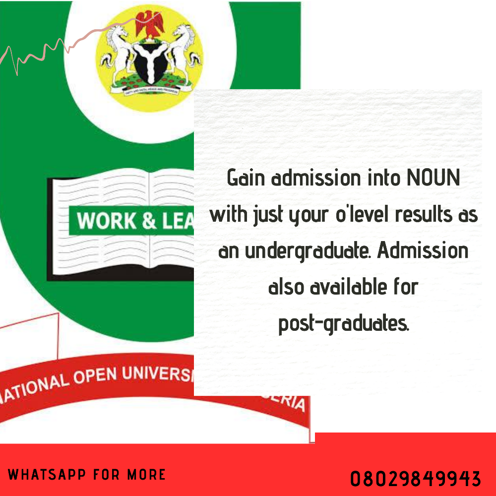 Gain Admission into NOUN with just your o level result!