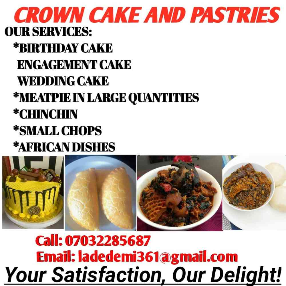 Crown cake and pastries