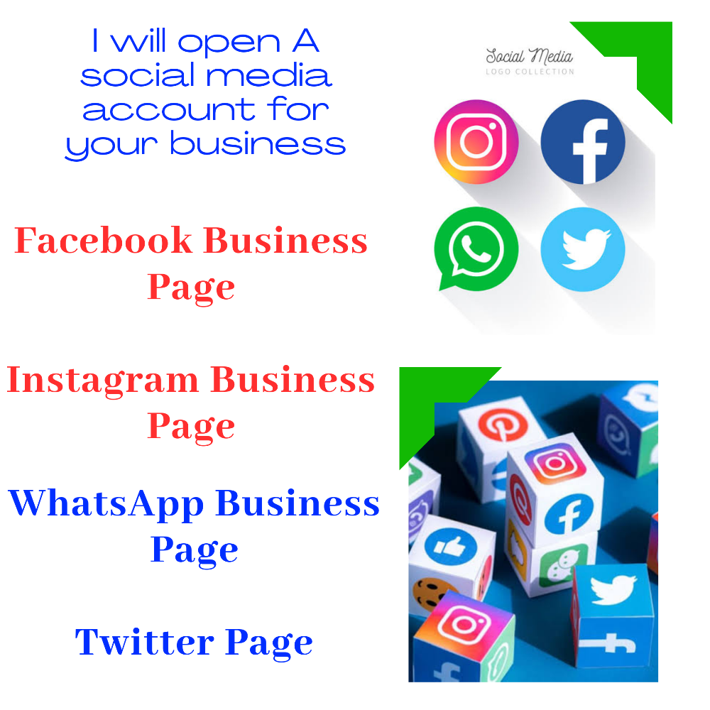 I will help you create a social media accounts for your business picture