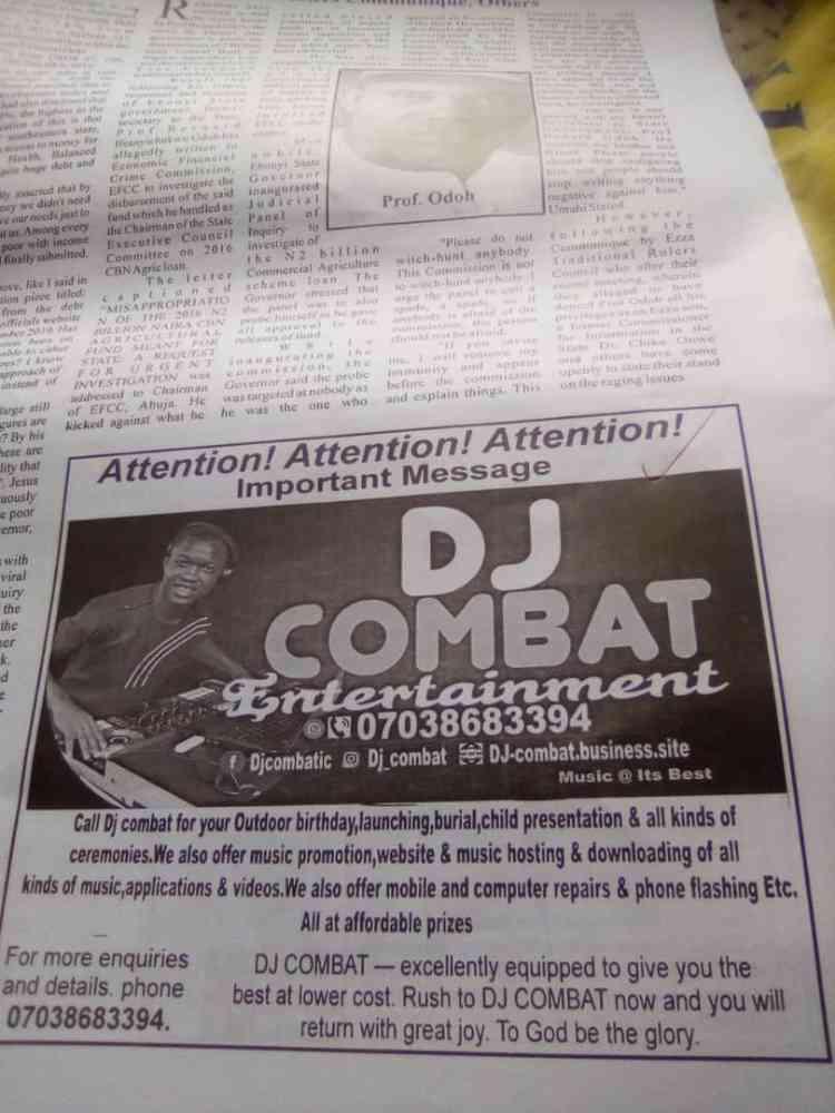 Dj Combat International Entertainment