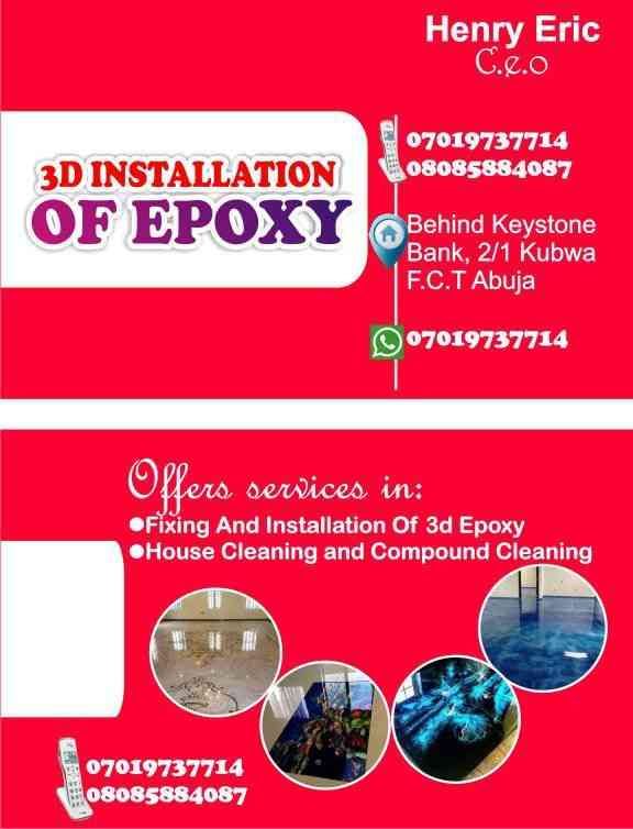 3d installation of epoxy picture