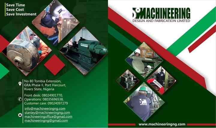 Machineering design and fabrication limited
