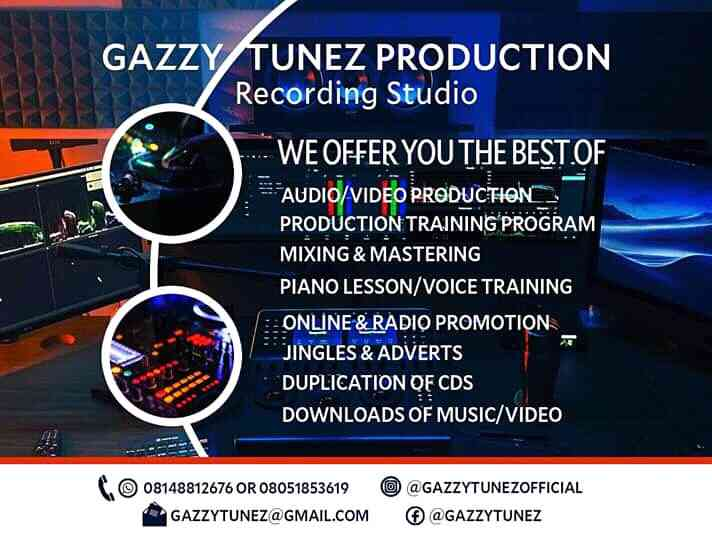 GazzyTunez productions (Recording Studio)