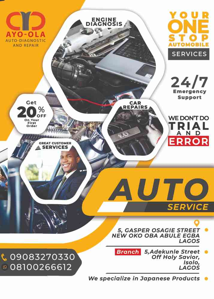AYO-OLA AUTO-DIAGNOSTIC AND REPAIR (Ayoola autocare service) picture