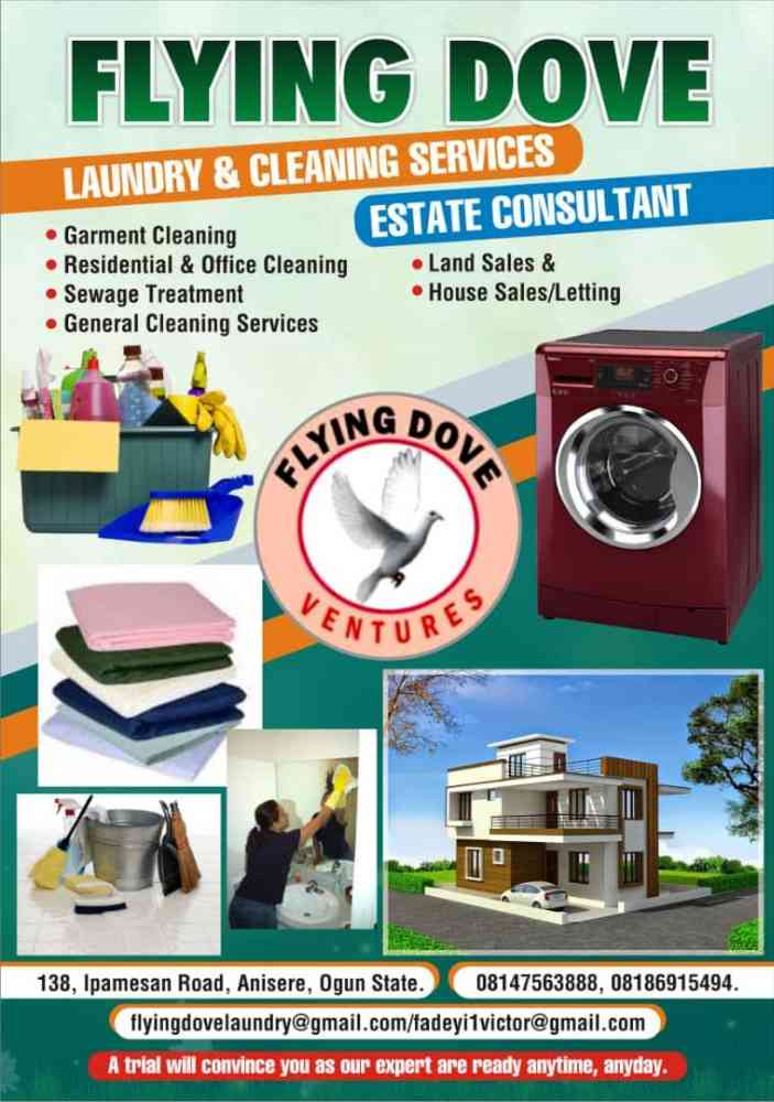 Flying dove laundry and cleaning service