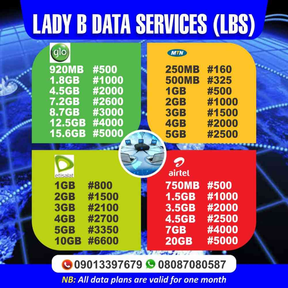 Lady B data service picture