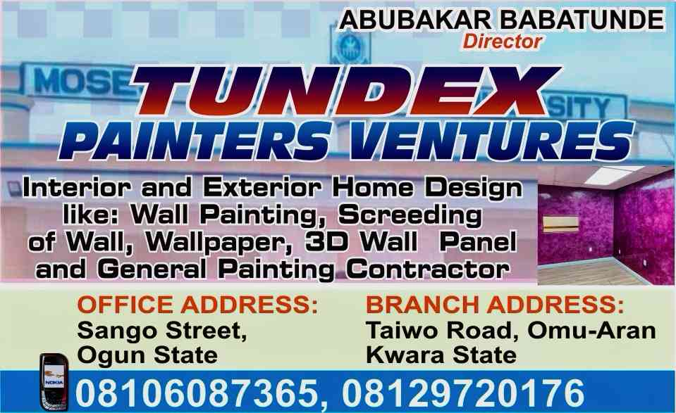 Tundex painters ventures