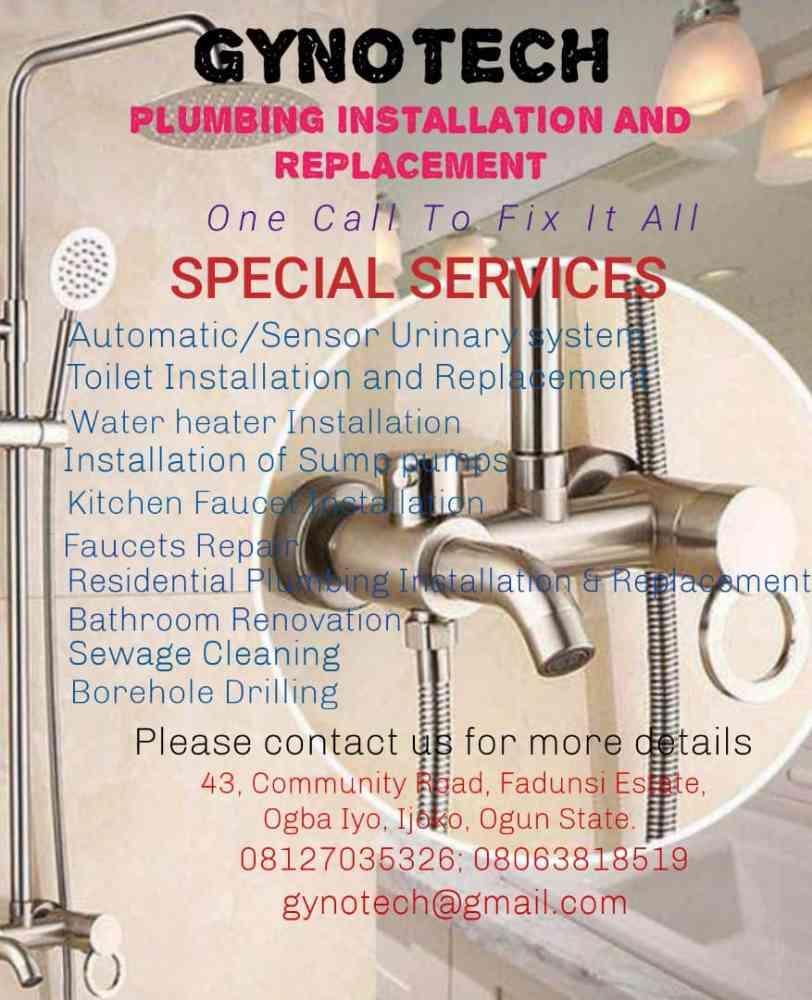 Gynotech plumbing work