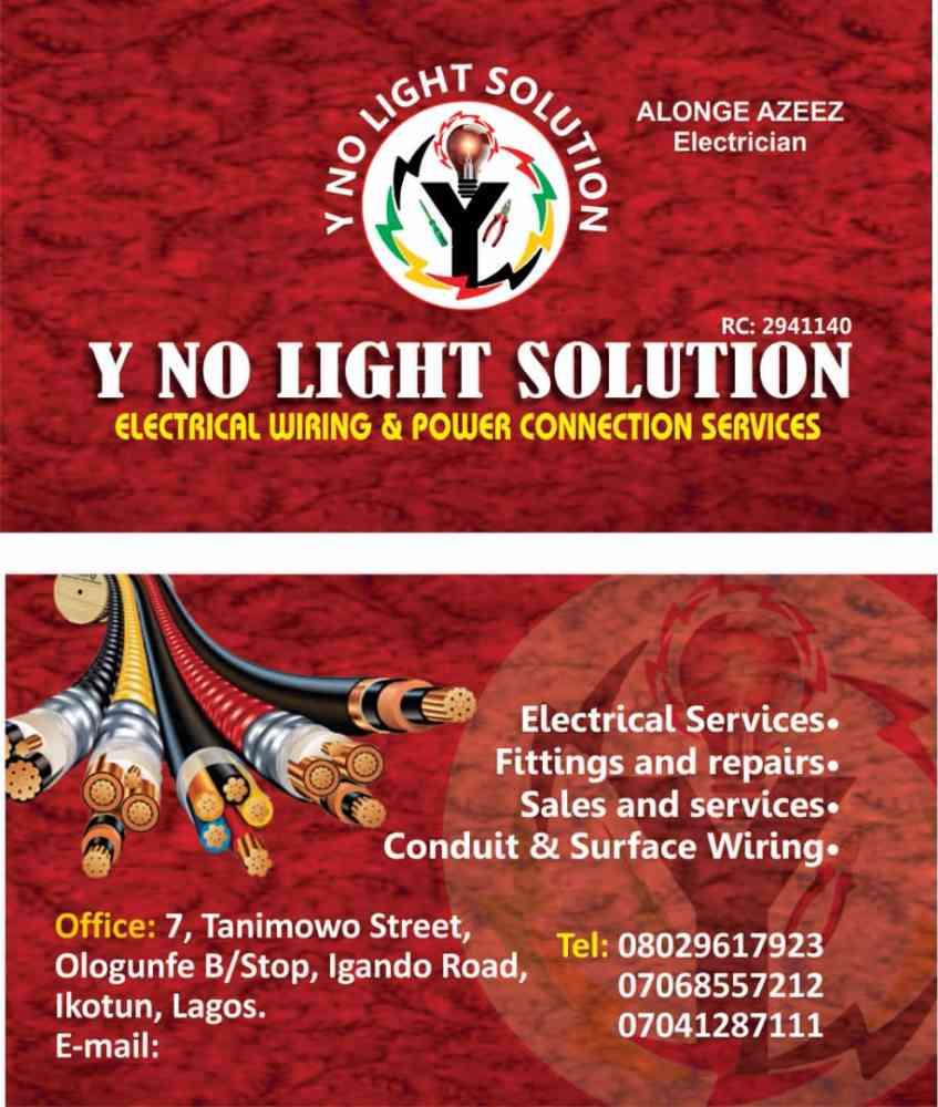 Y no light solution