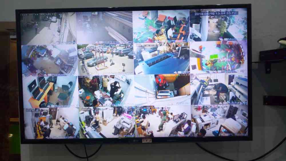 Installation of CCTV system