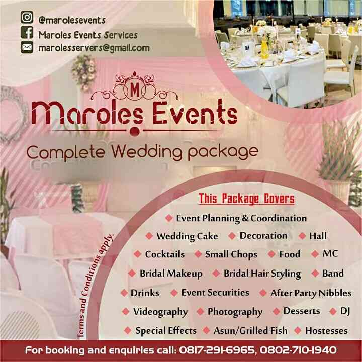 Maroles Events services