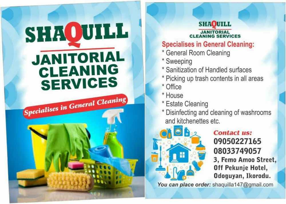 Shaquill janitorial cleaning services picture
