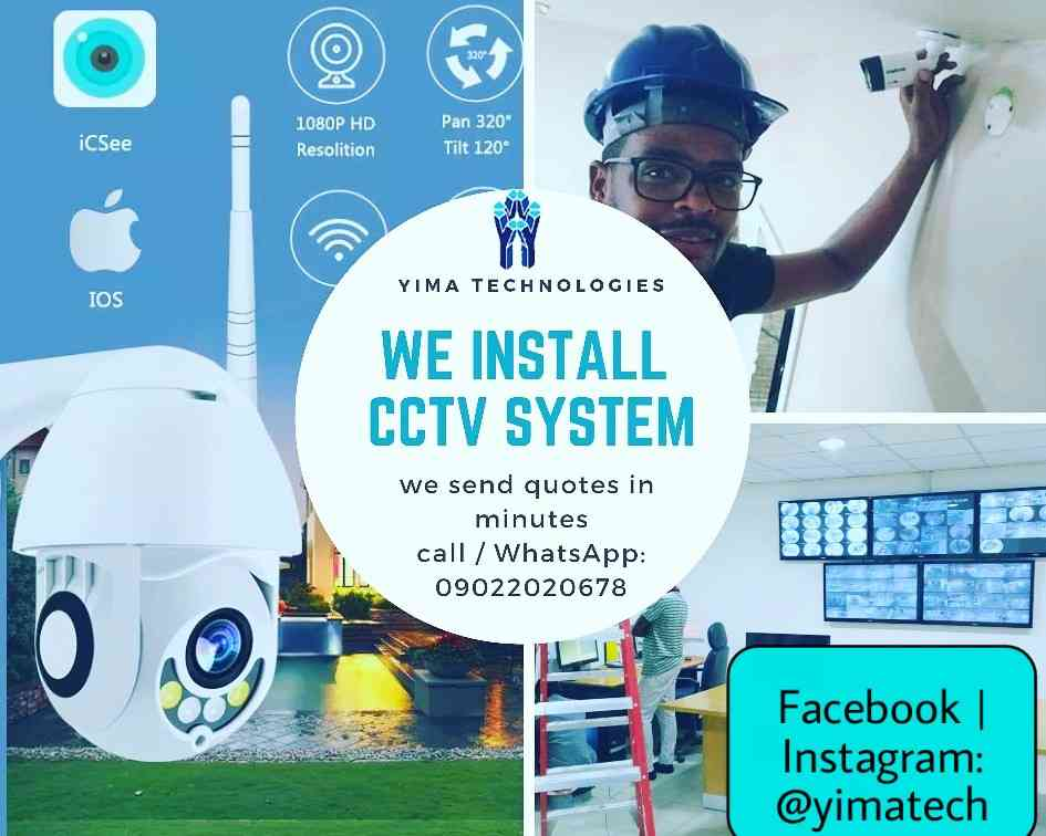 Installation of CCTV system img