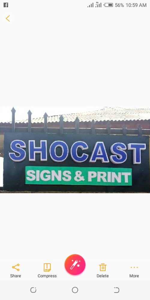 Shocast signs and print